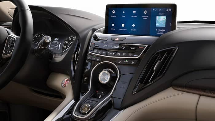 Interior dashboard of 2019 Acura RDX