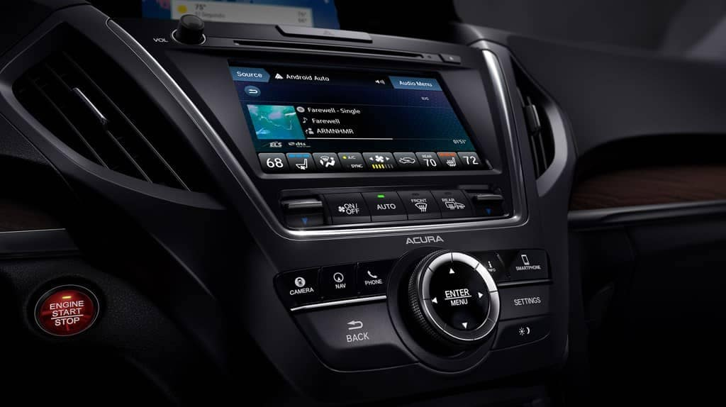 2019 Acura MDX infotainment screen