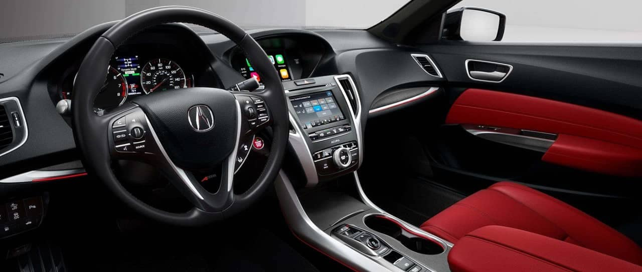 2019 Acura TLX SH-AWD with Red Interior