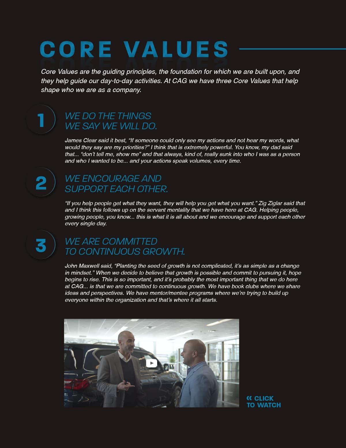 cag core values continental