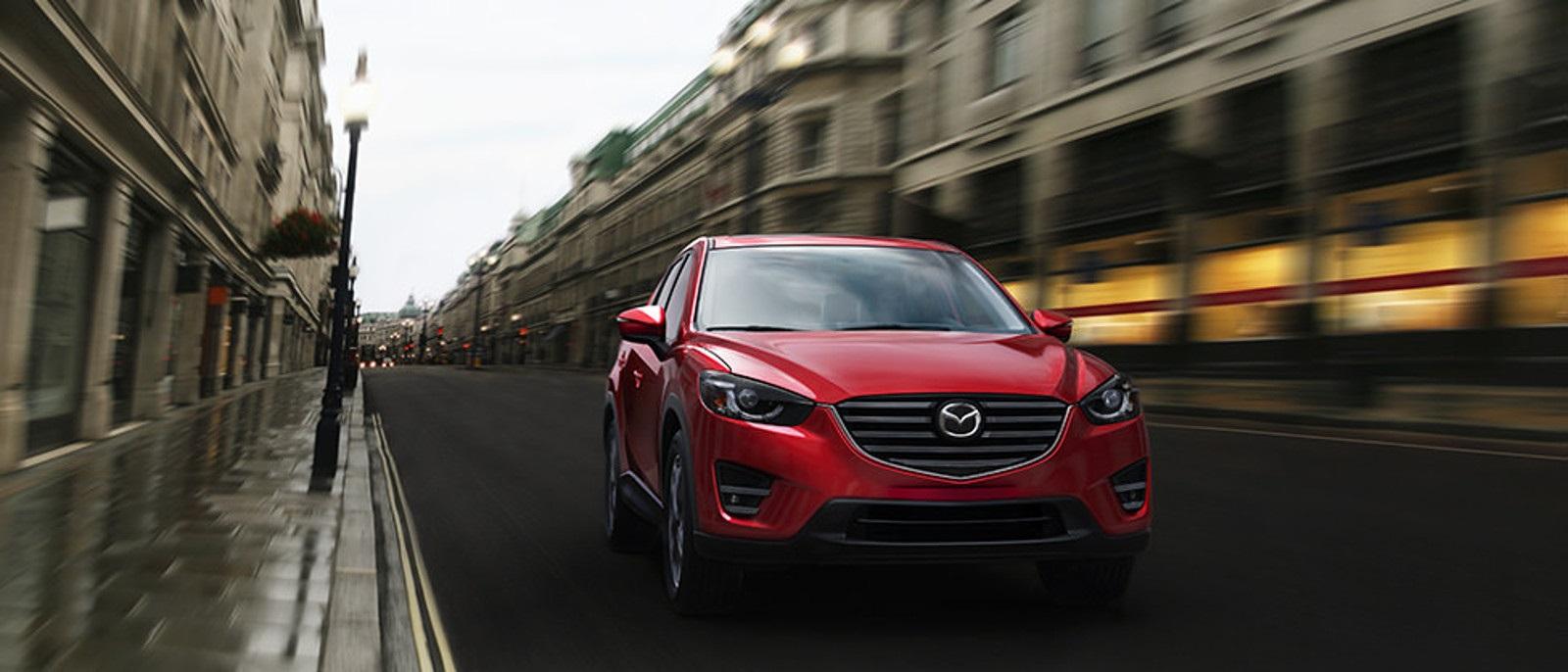 2016 Mazda CX-5 red paint city scene