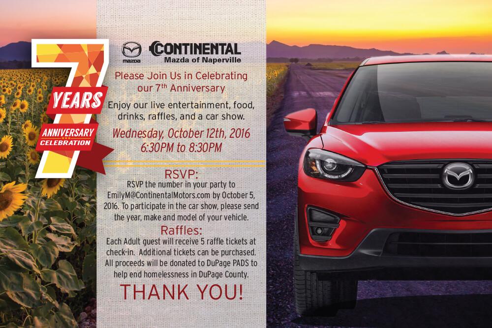 Continental Mazda Anniversary | Continental Mazda of Naperville
