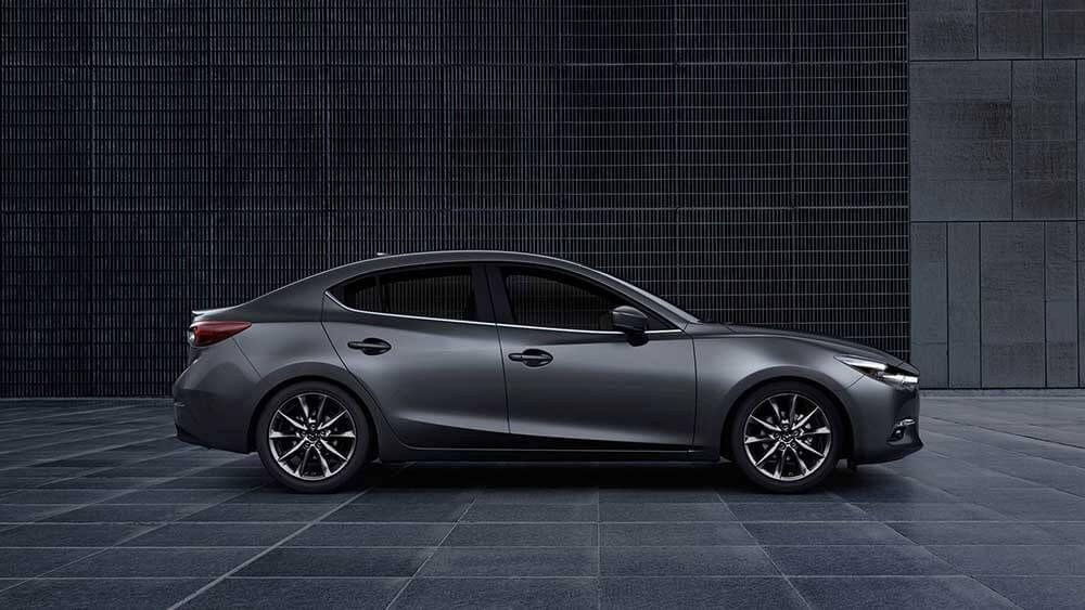 2018 Mazda3 Sedan parked outside a building