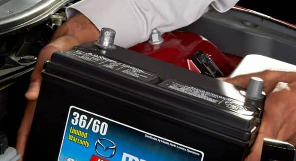 Mazda battery Install
