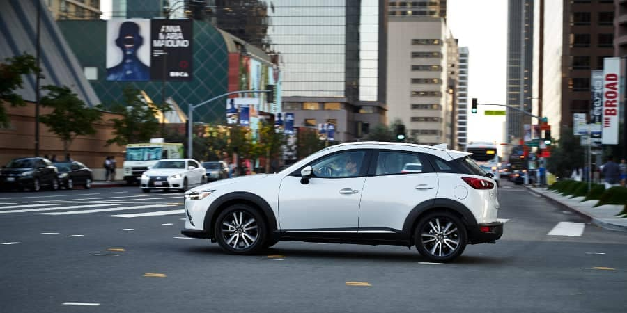 2018 MAZDA CX-3 goes through intersection
