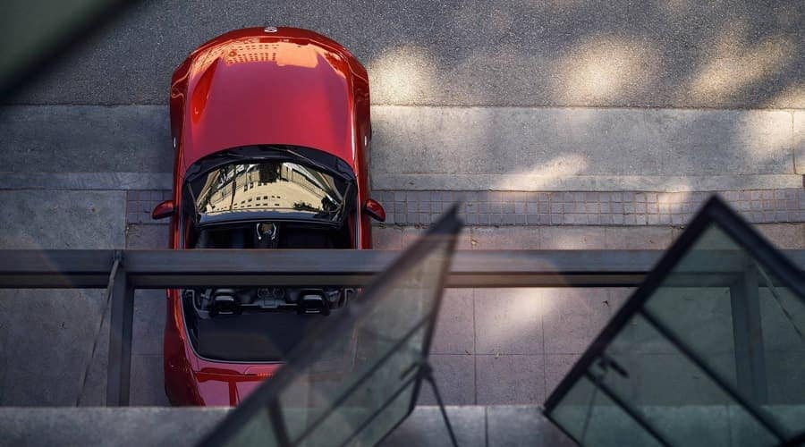 2018 Mazda MX-5 Miata from bird's eye view