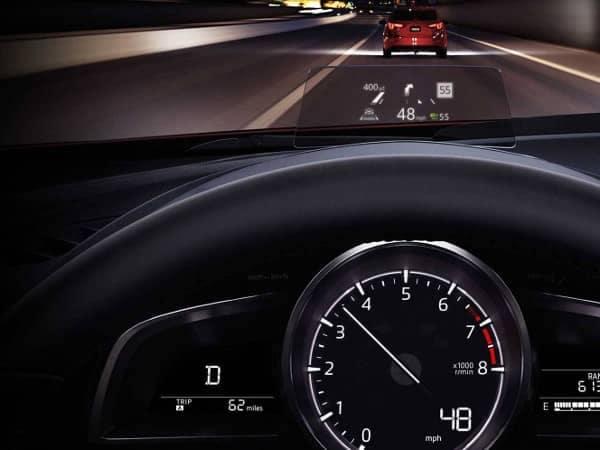 2018 Mazda3 active driving display
