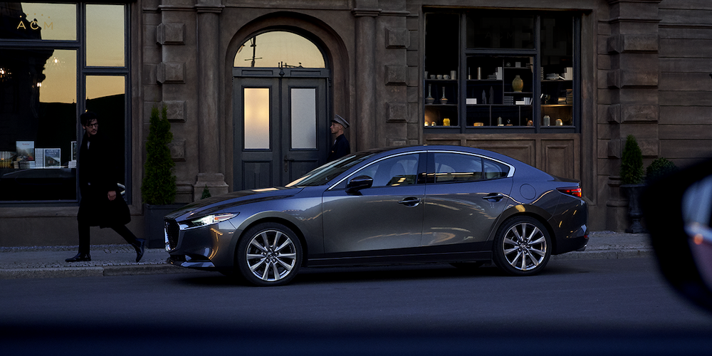 2019 Mazda3 on the road