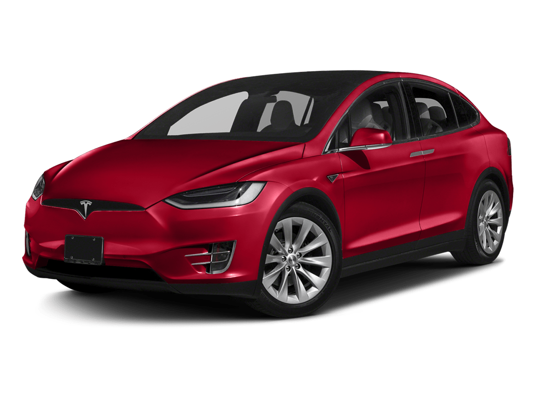 Tesla Model X- red multi-coat - 2018 Tesla Model X