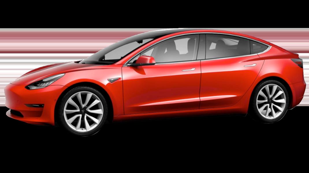 Red - 2018 Tesla Model 3