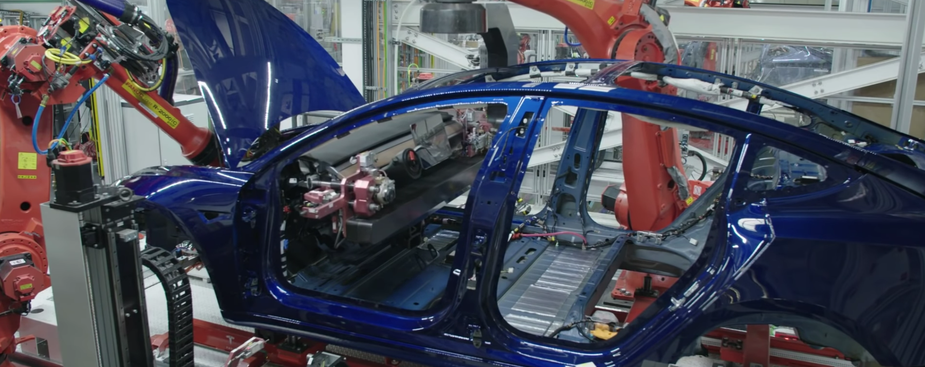 Tesla Model 3 Under Construction