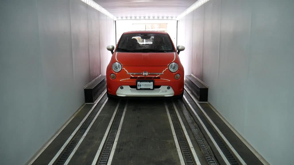 Fiat 500e Loading Up
