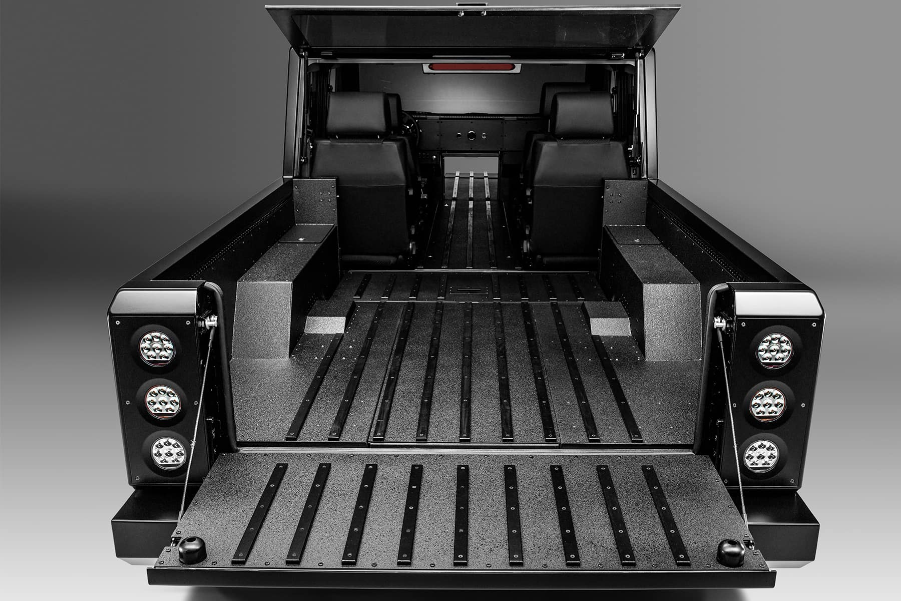 Bollinger Motors Pass-Through Storage Door