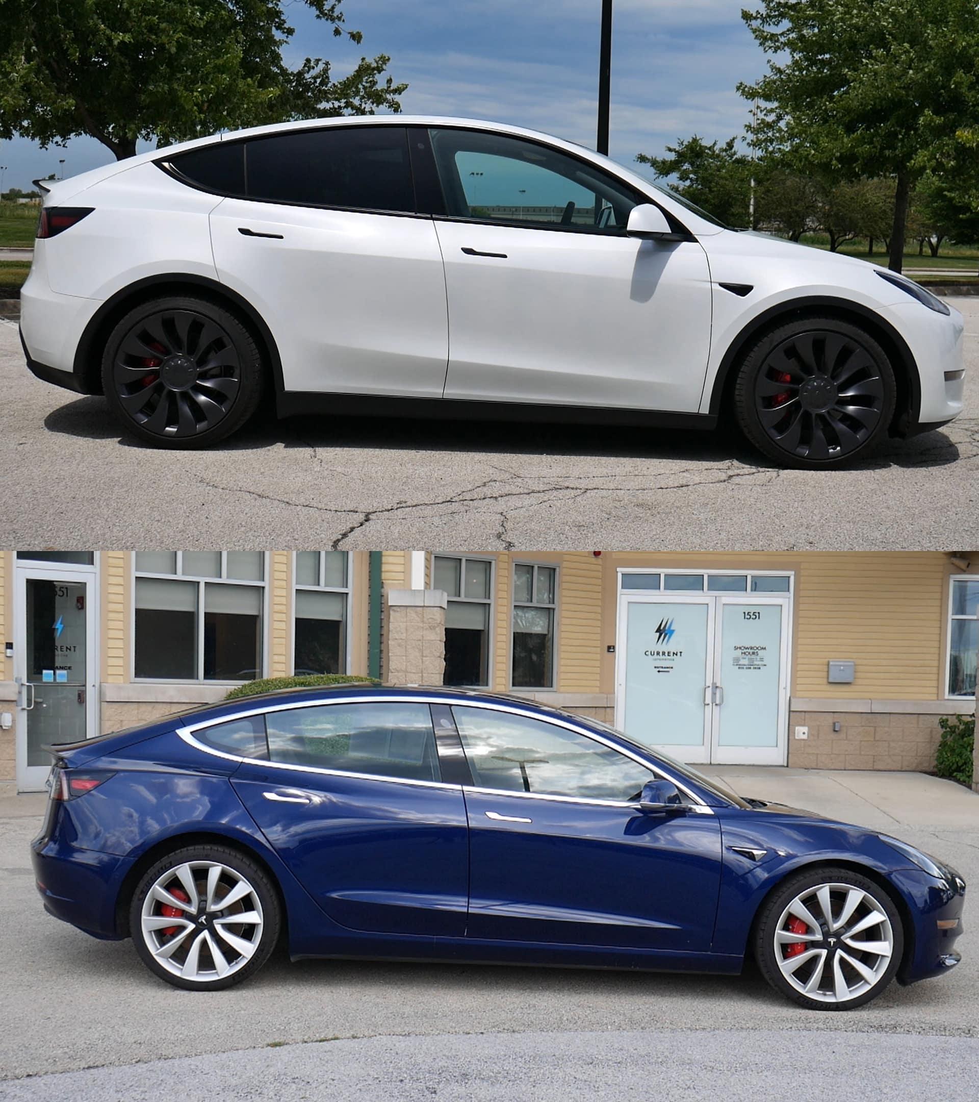 Model 3 vs Model Y Size