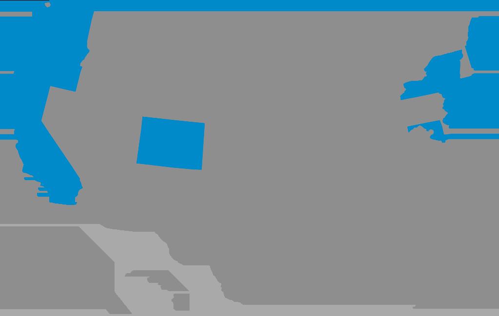 ZEV States Map 2021