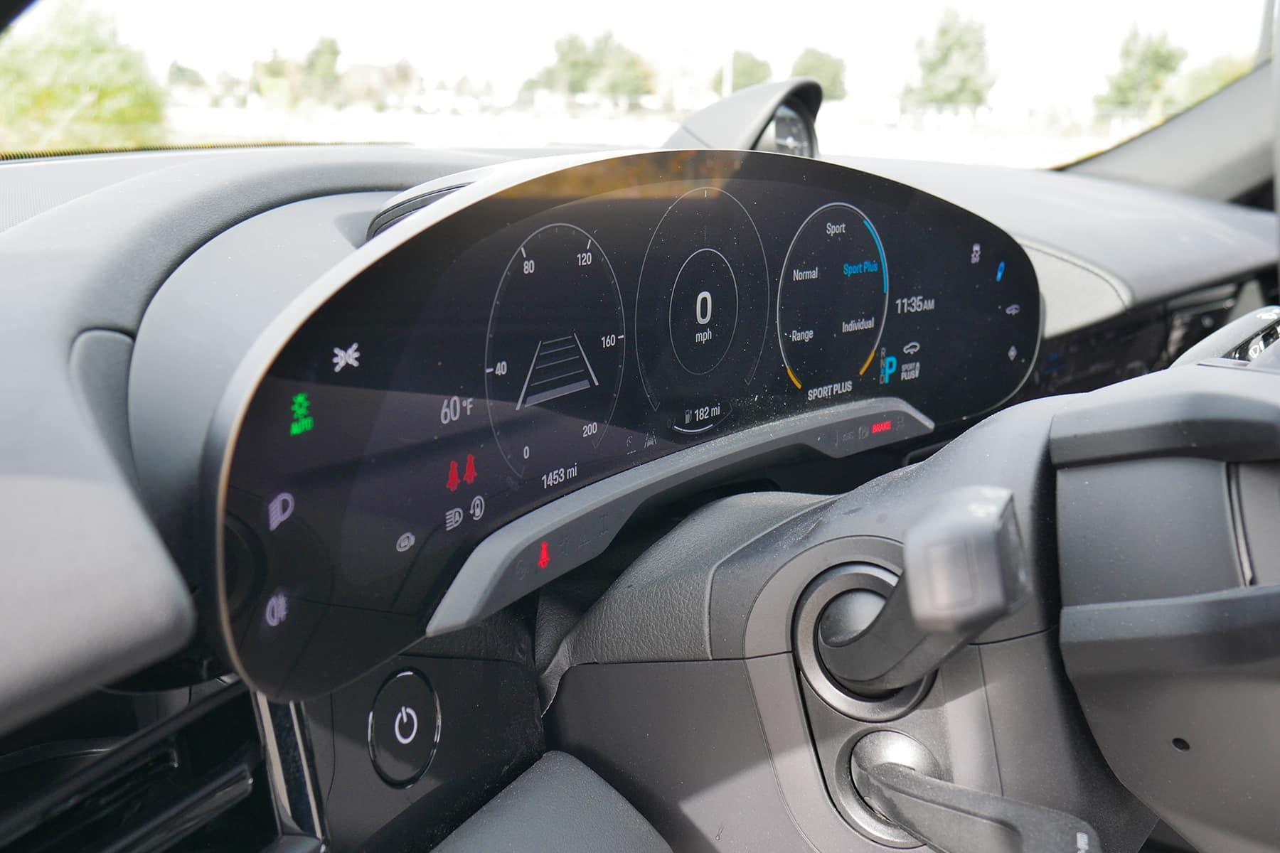 Porsche Taycan Curved Screen