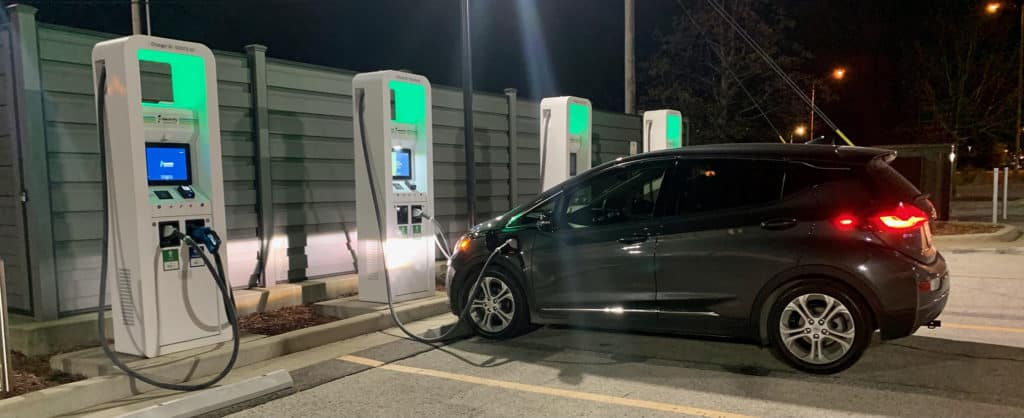Bolt Charging at Fast Charger