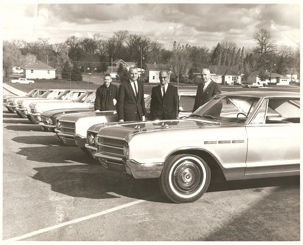 Bob Tone, Harold, Louie King, John Johnson 1965 Giving Driver's Ed Cars