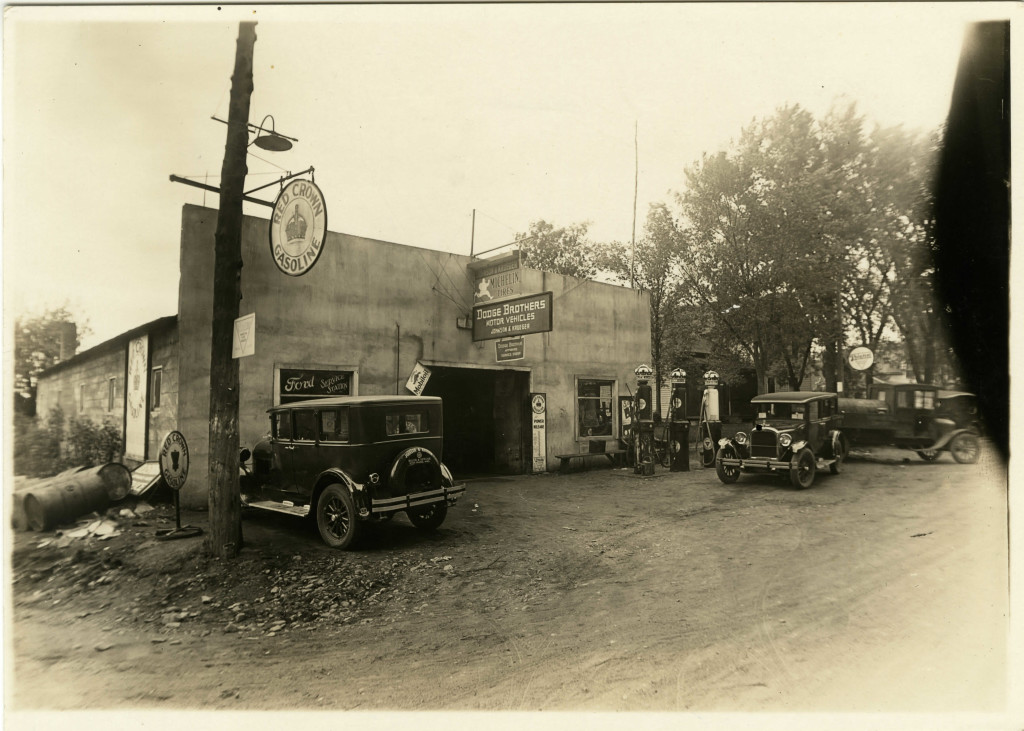 Exterior of Dealership 1928 - Johnson & Kruger Dealership in Star Prairie, WI