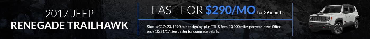 Jeep Renegade Trailhawk Lease Offer Banner