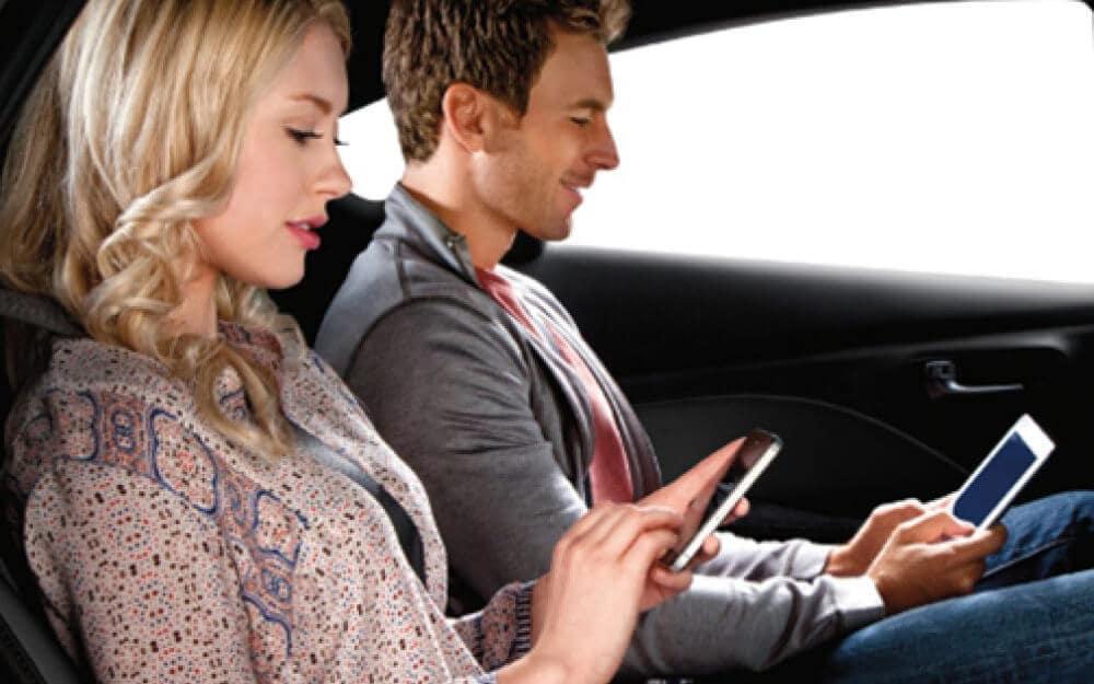 Passengers Using Phones