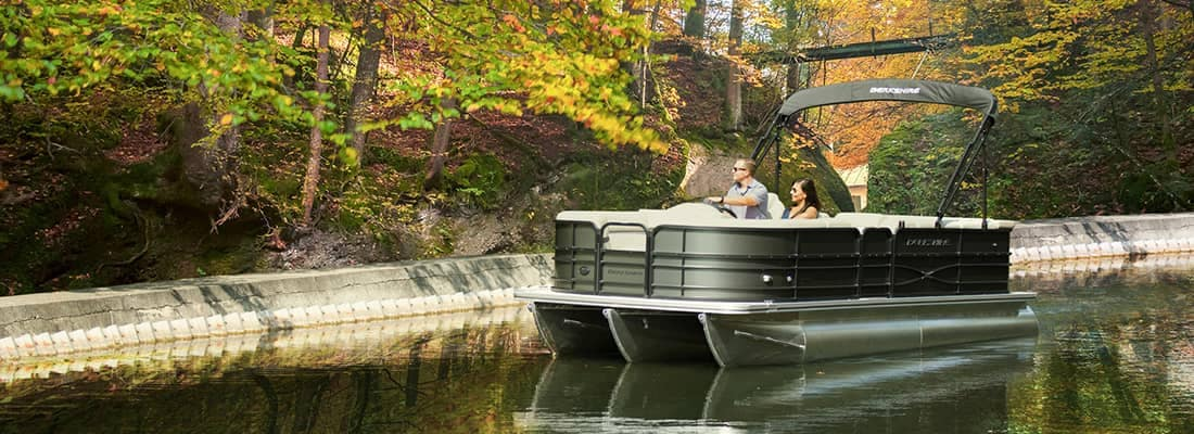 Pontoon Boat in the Fall
