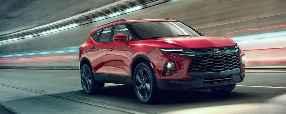 2019 Chevy Blazer Driving