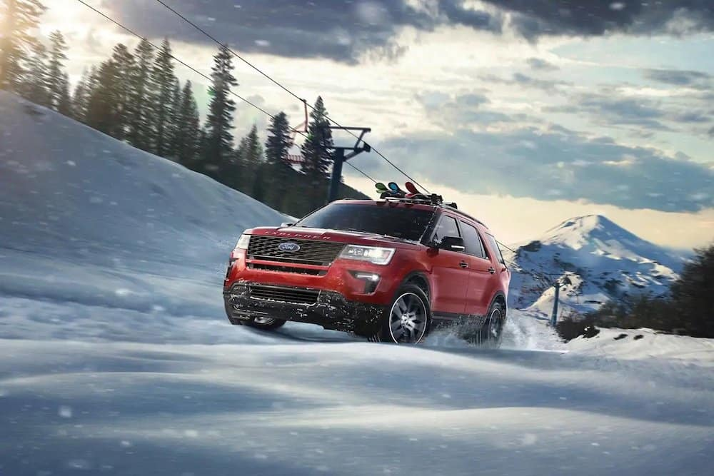 2019 Ford Explorer Sport in the snow