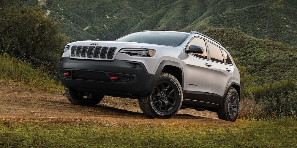 2019 Jeep Cherokee on a trail