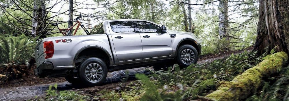 2019 Ford Ranger driving through the woods