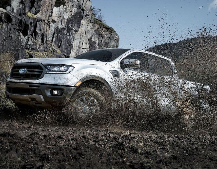 2019 Ford Ranger in the Mud