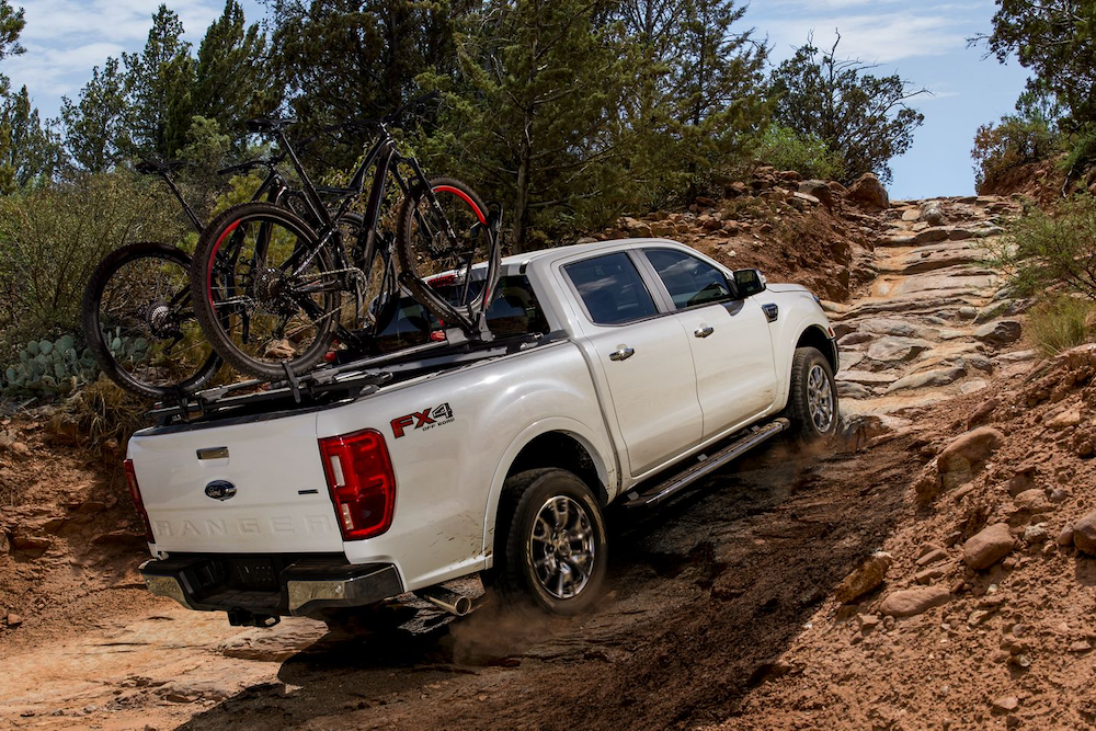 2019 Ford Ranger with bikes in the bed