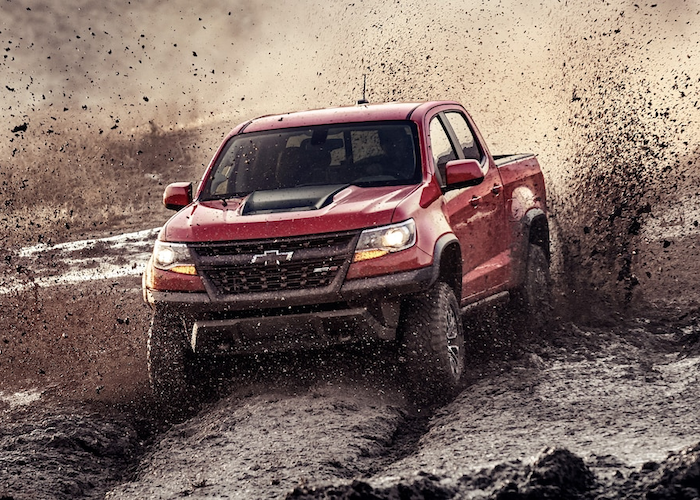 2019 Chevrolet Colorado in the mud