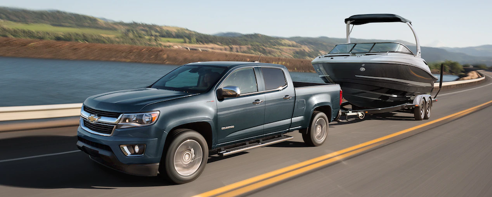 2019 Chevrolet Colorado towing a boat