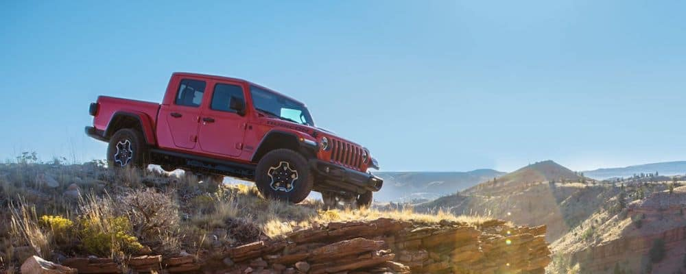 2020 Jeep Gladiator on a plateau