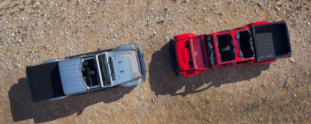2020 Jeep Gladiator models from above