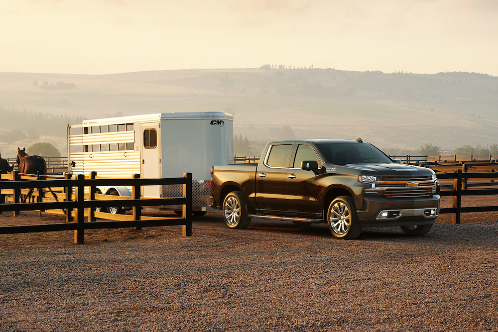 2020 Silverado towing a trailer