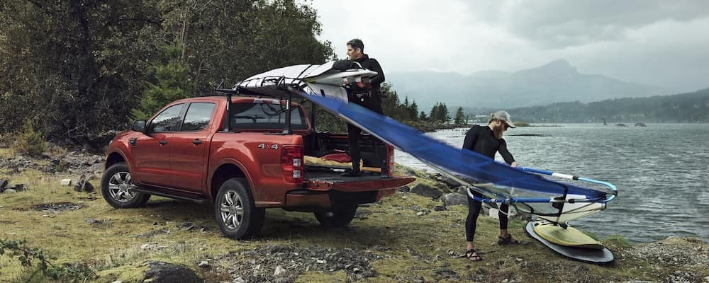 2020 Ford Ranger XLT by a lake