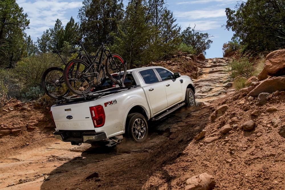 2020 Ranger Lariat supercrew with bicyclyes on the back