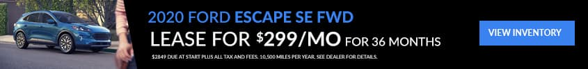Ford Escape lease special at Don Johnson Motors
