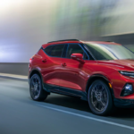 2020 Chevrolet Blazer driving through a tunnel at night