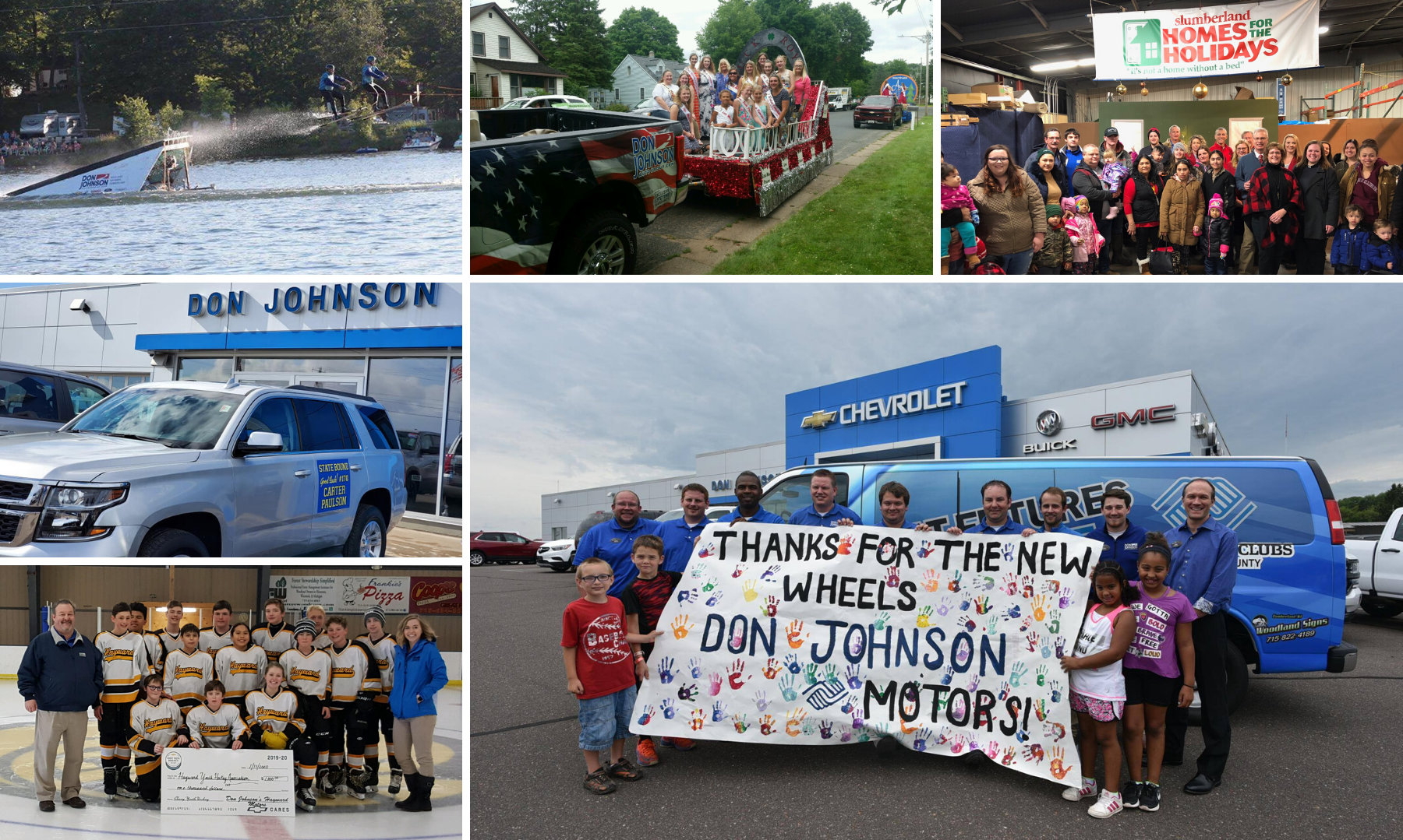 Don Johnson Motors Donation Collage