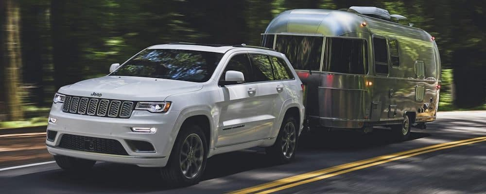 2020 Jeep Grand Cherokee towing a trailer