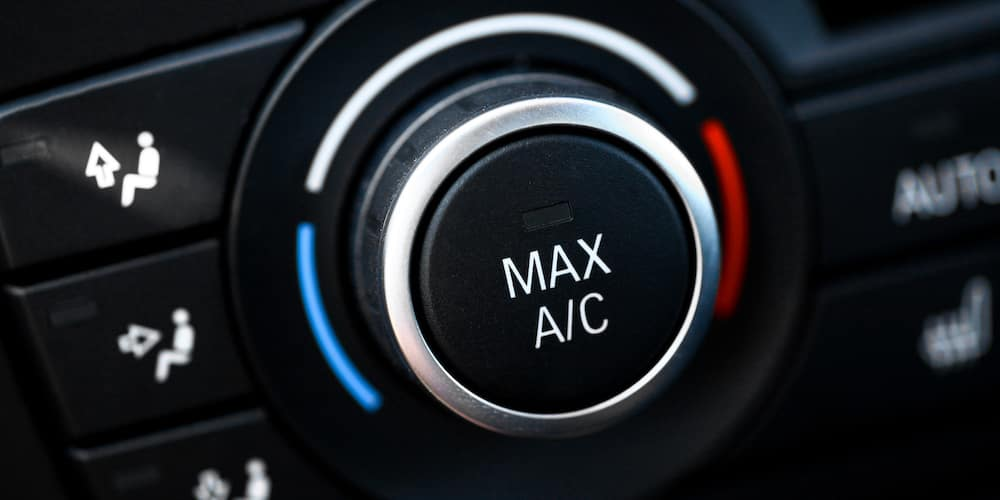 Car air conditioning button