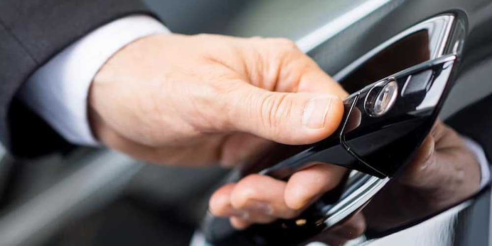 Opening a car door