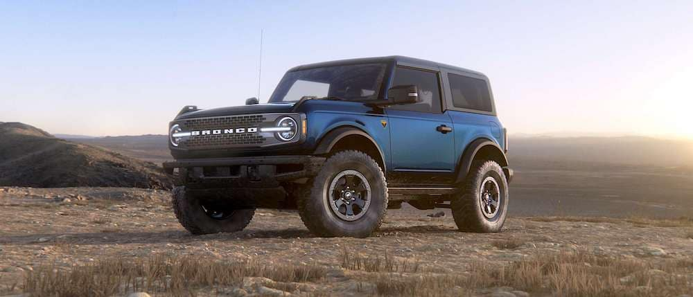2021 Ford Bronco in Antimatter Blue