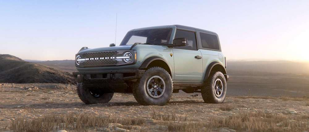 2021 Ford Bronco in Cactus Gray