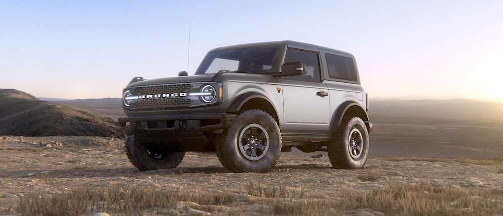 2021 Ford Bronco in Iconic Silver
