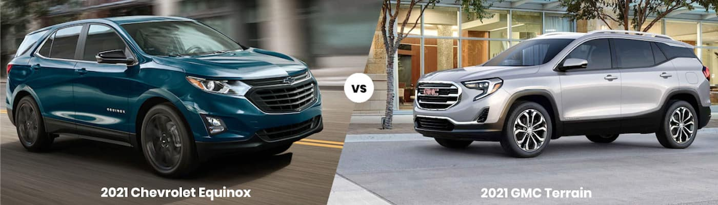 2021 Chevrolet Equinox vs 2021 GMC Terrain