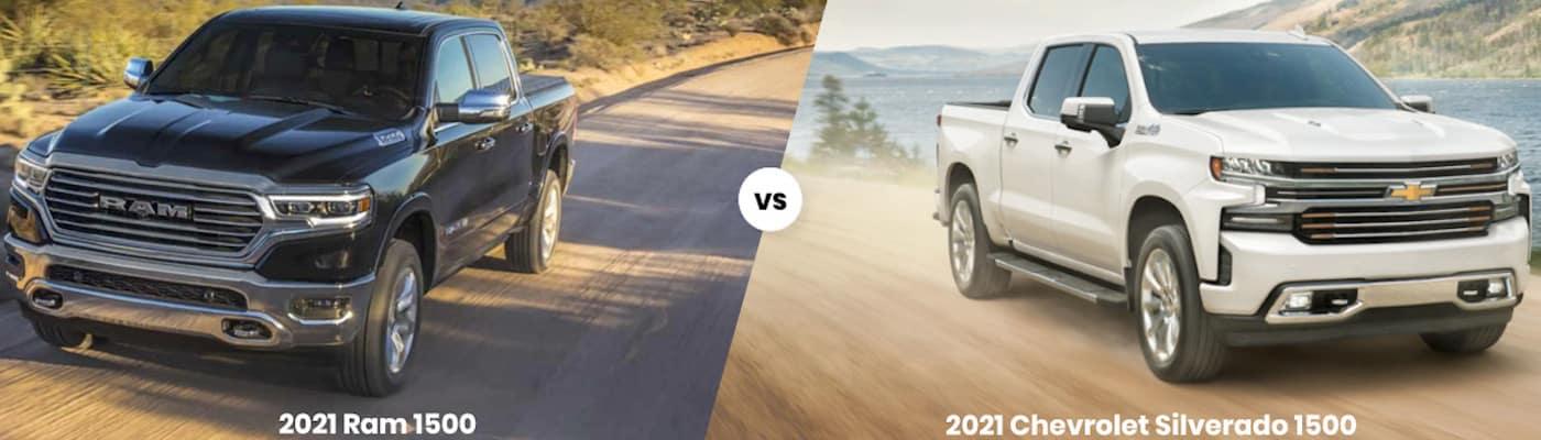 2021 Ram 1500 vs. 2021 Chevrolet Silverado 1500